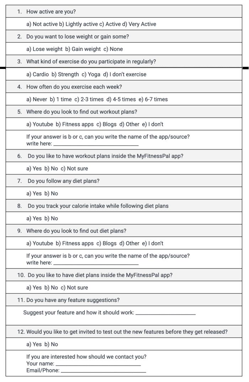 User-Survey-Questions